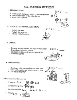 Easy to Follow Multiplication Strategies