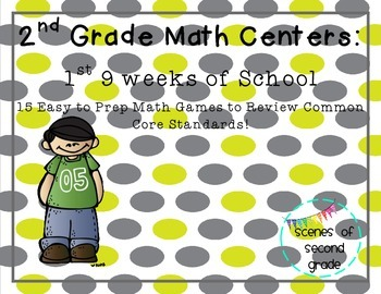Easy to Prep 2nd Grade Math Centers: 1st 9 Weeks of School