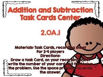 Easy to Prep Math Centers for 2nd Graders: Operations and Algebraic Thinking