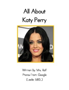 Easy to Read Biographies: Katy Perry