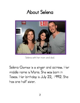 Easy to Read Biographies: Selena Gomez