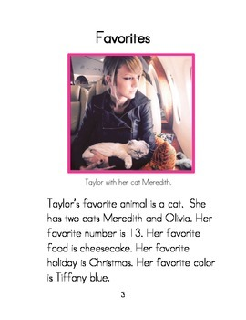 Easy to Read Biographies: Taylor Swift