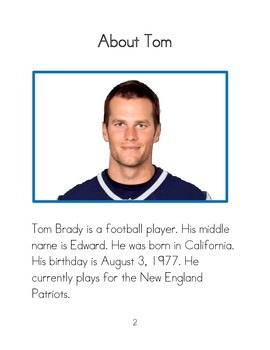 Easy to Read Biographies: Tom Brady