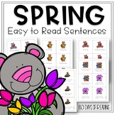 Spring CVC Fluency Game with Simple Sentences for Beginning Readers