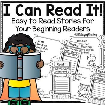 Short Vowel Passages Worksheets Teaching Resources TpT