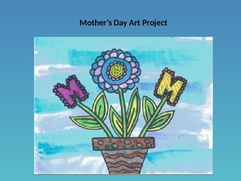 Easy to Teach! Mother's Day Sharpie Art Drawing Project Step By Step PowerPoint