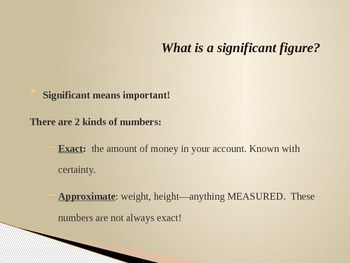 Easy to Understand Significant Figures Power Point