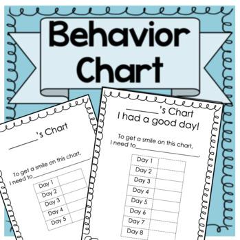Easy to Use Behavior Chart!