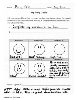 Easy-to-Use Behavior Charts for the Elementary Classroom K-4