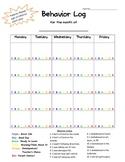Easy to Use Behavior Log 2