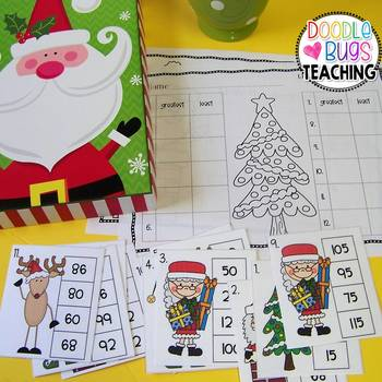 Easy to Use Christmas Math Centers