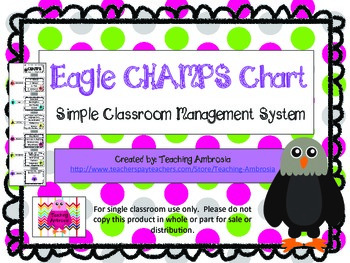 Easy to Use Eagle Themed CHAMPS Chart by Teaching Ambrosia