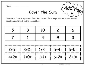 Easy to Use Math Practice Sheet