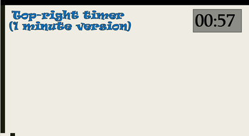 Easy-to-Use PowerPoint timer 10 30 and 60 seconds No FLASH REQUIRED :-)