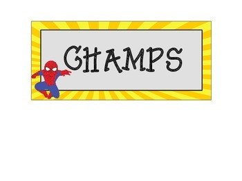 Easy to Use Superhero Themed CHAMPS Charts by Teaching Ambrosia
