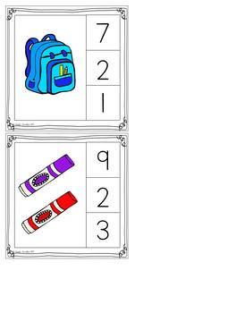 Easy to Use Task Cards for Kindergarten