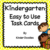 Easy to Use Task Cards for Kindergarten