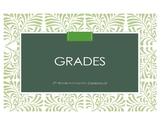 Easy-to-do! Interactive Gradesheet