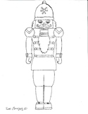 Easy to draw Nutcracker just in time for Christmas