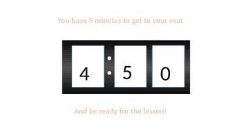 Easy to use 5 Minute Timer in Powerpoint
