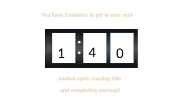 3 minute timer for powerpoint