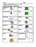 Easy to use Sticker Behavior Chart