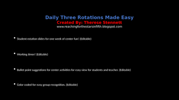 Easy tracking for Daily Five stations