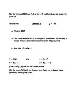 Easy way to graph Parabola