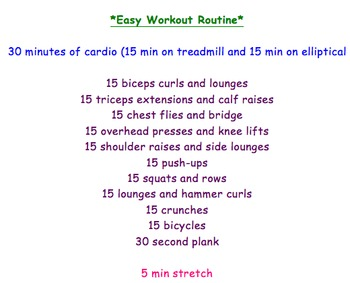 Easy workout routine for busy teachers!