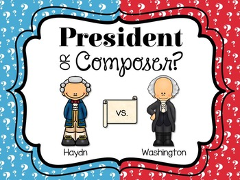 President or Composer?  An Identification Game