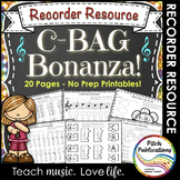 Recorder Resource: C-BAG Bonanza - 20 Page No-Prep Recorde