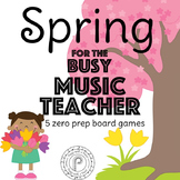 Spring Music Game Bundle: 5 no prep board games!