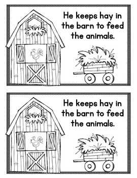 Easy/Emergent Readers! Community Helpers: Farmers & Vets. Guided Reading