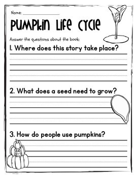 Easy/Emergent Readers! Pumpkins: Life Cycle & Pumpkin Patch. Guided Reading