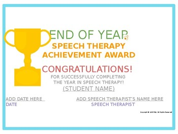Easybee Speech Therapy Certificates!