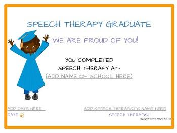 Easybee Speech Therapy Certificates! English & Spanish