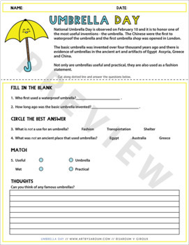 Umbrella Day (February 10)