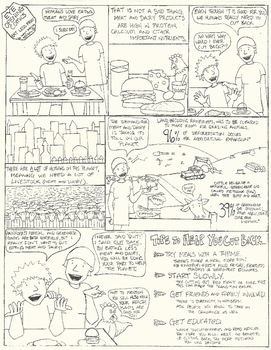 Eye Opening Comic - Eat Less Meat