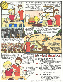Eye Opening Comic - Eat Less Meat (Earth Day Comic)