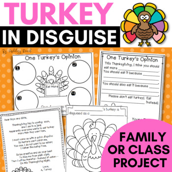 Turkey in Disguise Template and Project for Thanksgiving