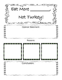 Eat More Turkey- Opinion Writing