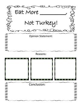 Eat More Turkey- Opinion Writing