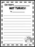Eat More___Not Turkey!! // Thanksgiving Writing Paper