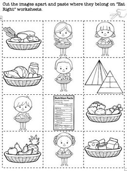 Eat Right Rhyme Matching and Worksheets