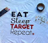 Eat, Sleep, Target, Repeat Graphic Tee Shirt Extra Large