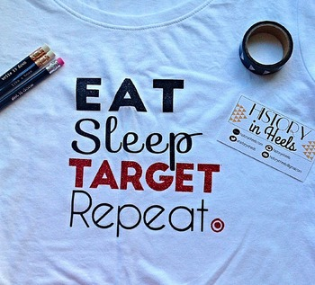 Eat, Sleep, Target, Repeat Graphic Tee Shirt Small
