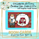 Eat, Sleep and Be Merry Christmas Open Ended WH Questions BOOM Cards