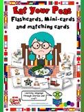 Eat Your Peas - Matching cards, Mini-cards, Flashcards - F