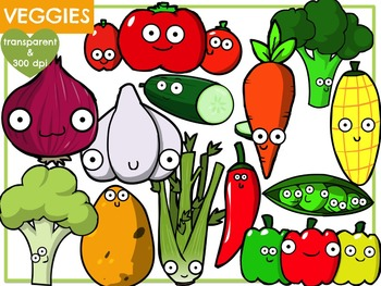 Vegetables (Digital Clip Art)