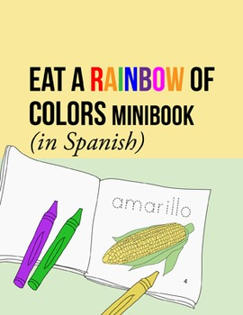 food coloring sheets spanish minibook w fruits and vegetables